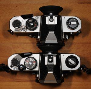 Nikon FM und FM2 Oberseite