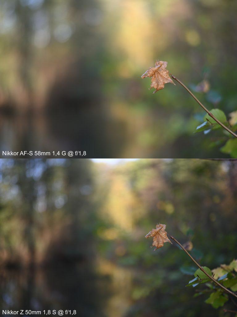 Nikkor AF-S 58mm 1,4 G vs. Nikkor Z 50mm 1,8 S
